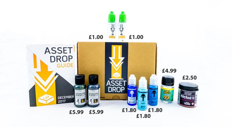 Asset Drop monthly subscription for miniature painters unboxing