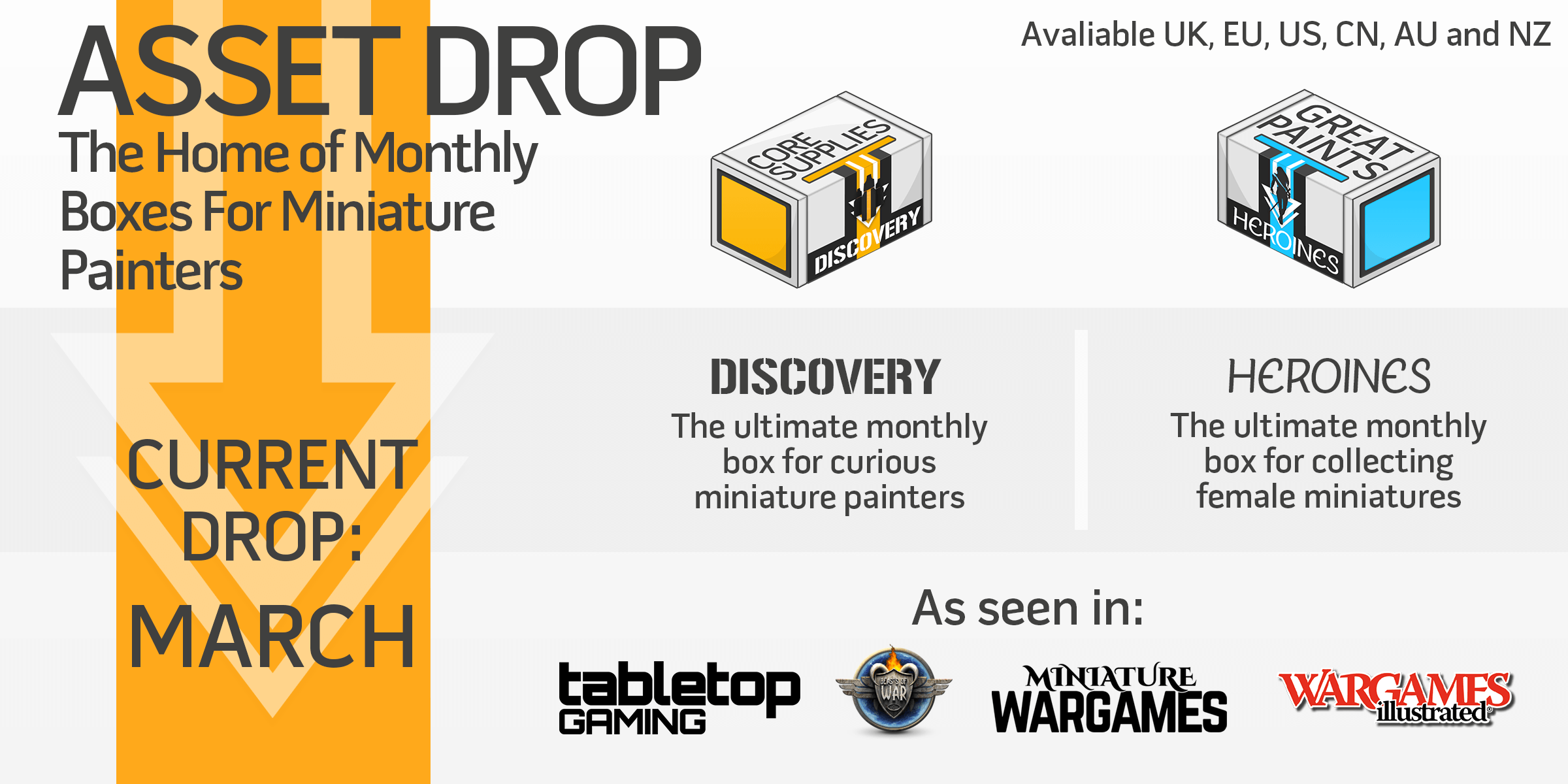 Asset Drop - monthly boxes for miniature painters and wargamers