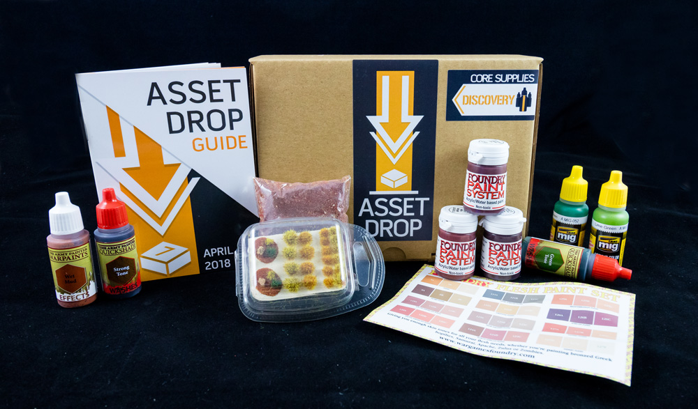 Asset Drop monthly subscription for miniature painters unboxing april