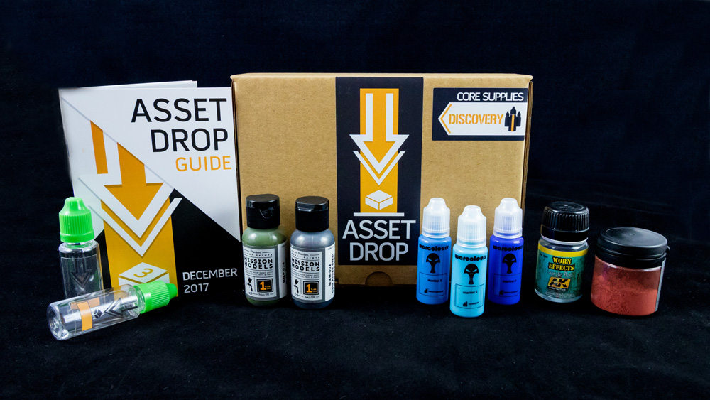 Asset Drop monthly subscription for miniature painters unboxing december
