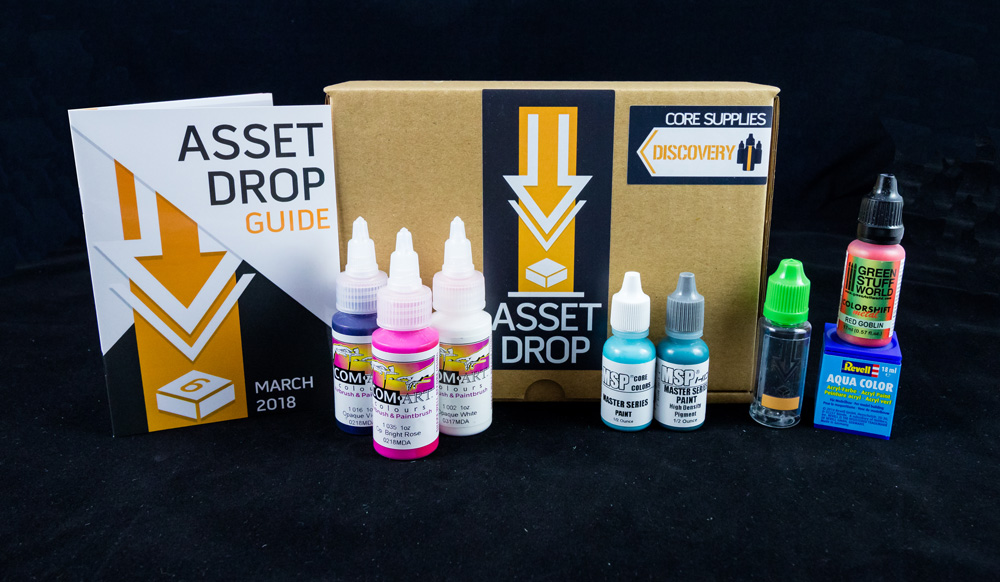 Asset Drop monthly subscription for miniature painters unboxing march
