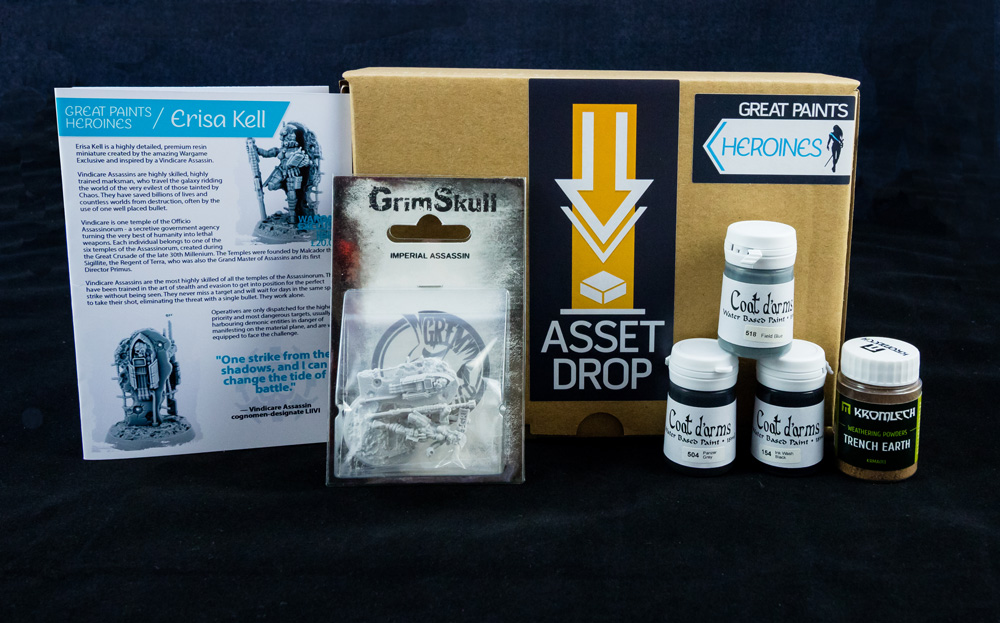 Asset Drop monthly subscription for miniature painters unboxing heroines march