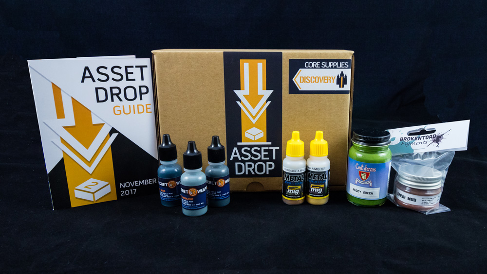 Asset Drop monthly subscription for miniature painters unboxing november
