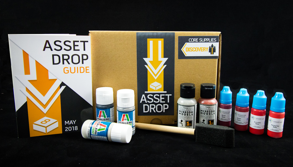Asset Drop monthly subscription for miniature painters unboxing may