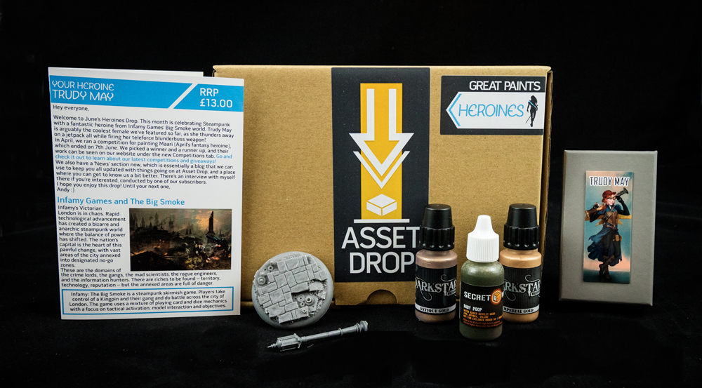 Asset Drop monthly subscription for miniature painters unboxing heroines june