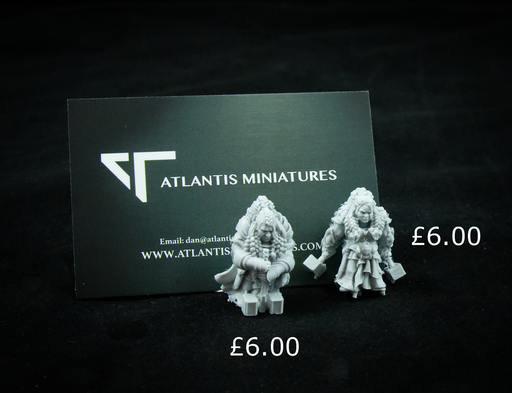 atlantis miniatures dwarves asset drop