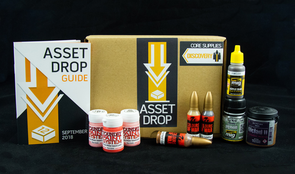 Asset Drop monthly subscription for miniature painters unboxing september