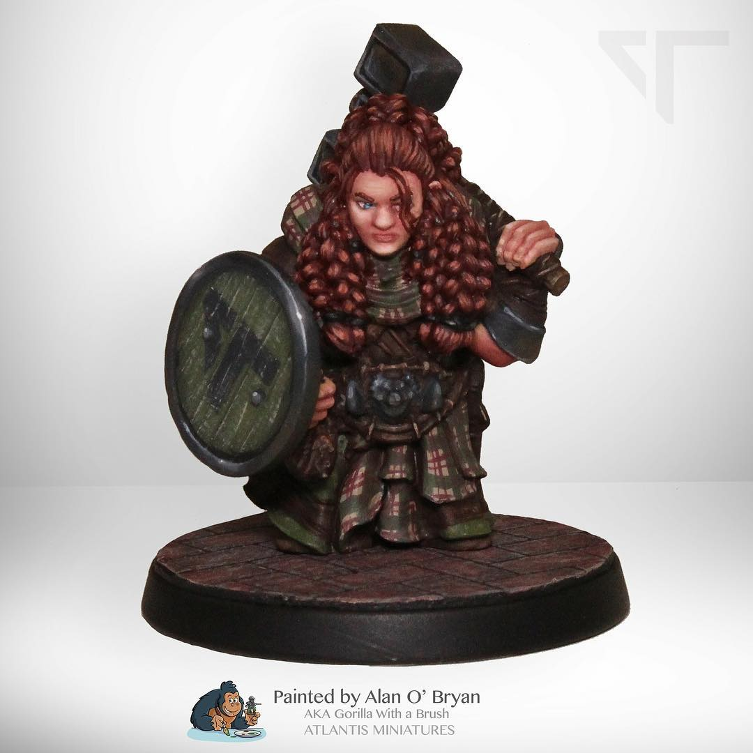 atlantis female dwarf painted