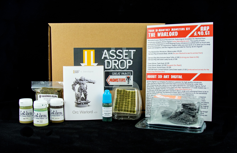 Asset Drop monthly subscription for miniature painters unboxing september monsters box
