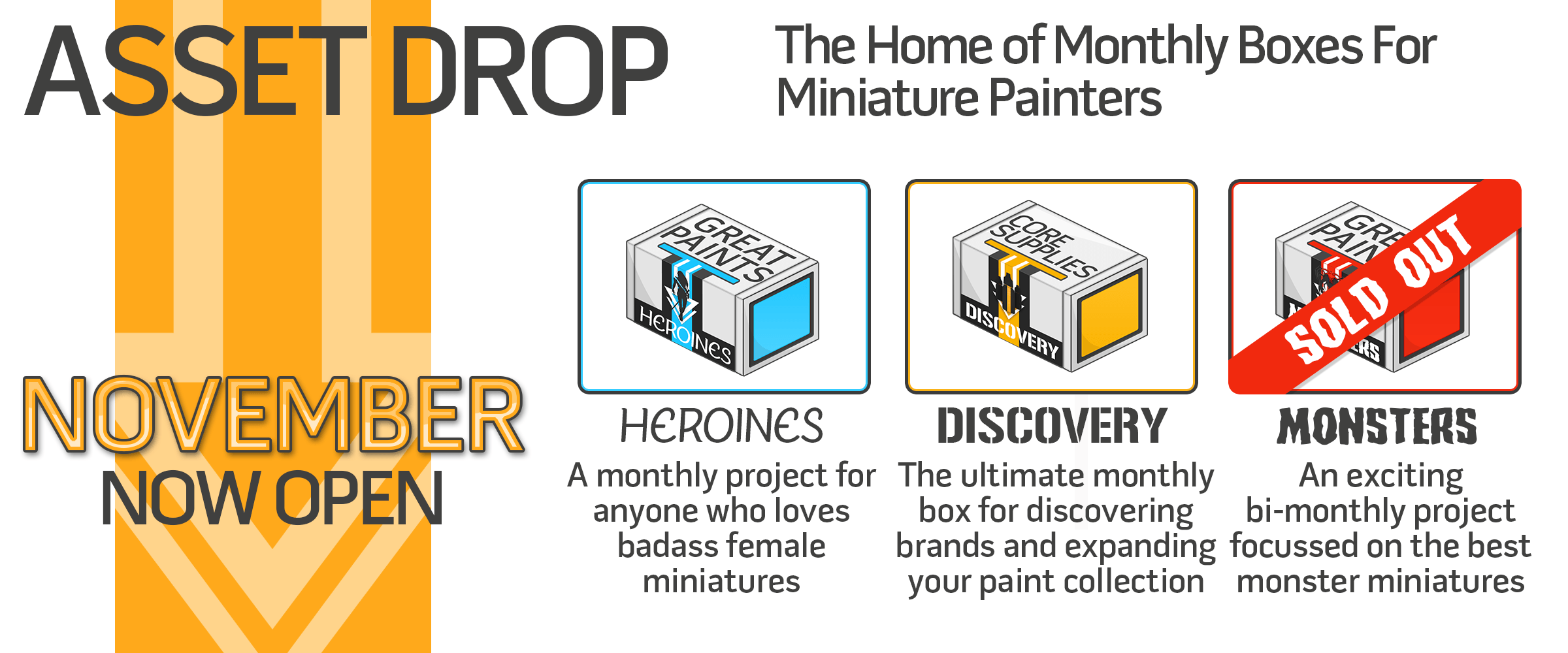 asset drop subscription miniature painters wargamers