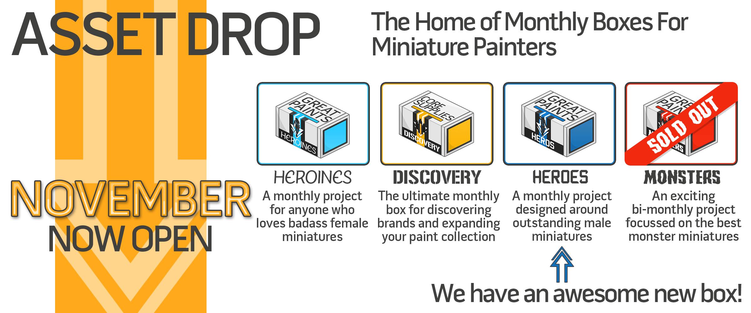 asset drop subscription miniature painters wargamers