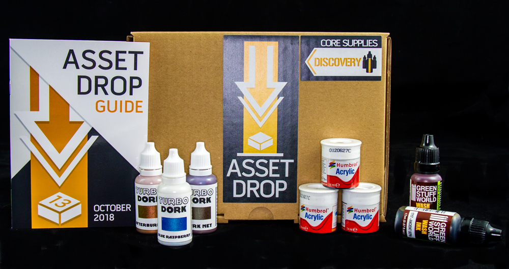 Asset Drop monthly subscription for miniature painters unboxing october