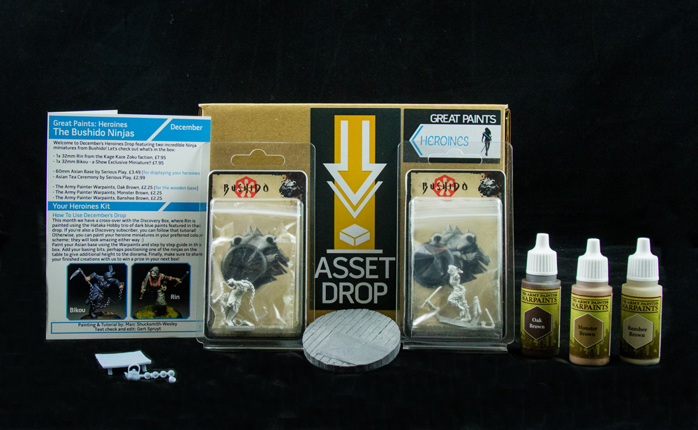 Asset Drop monthly subscription for miniature painters unboxing heroines december