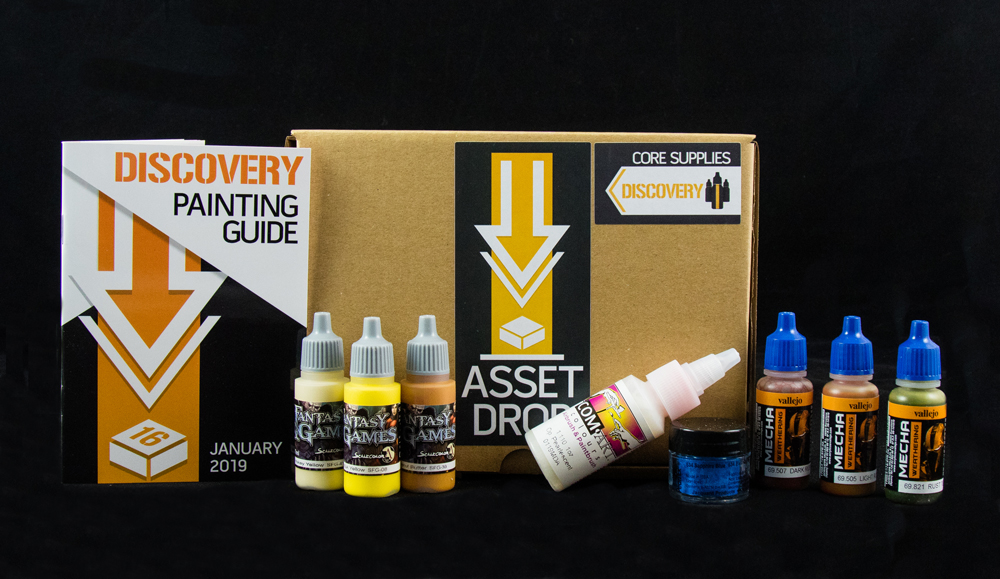 Asset Drop monthly subscription for miniature painters unboxing january