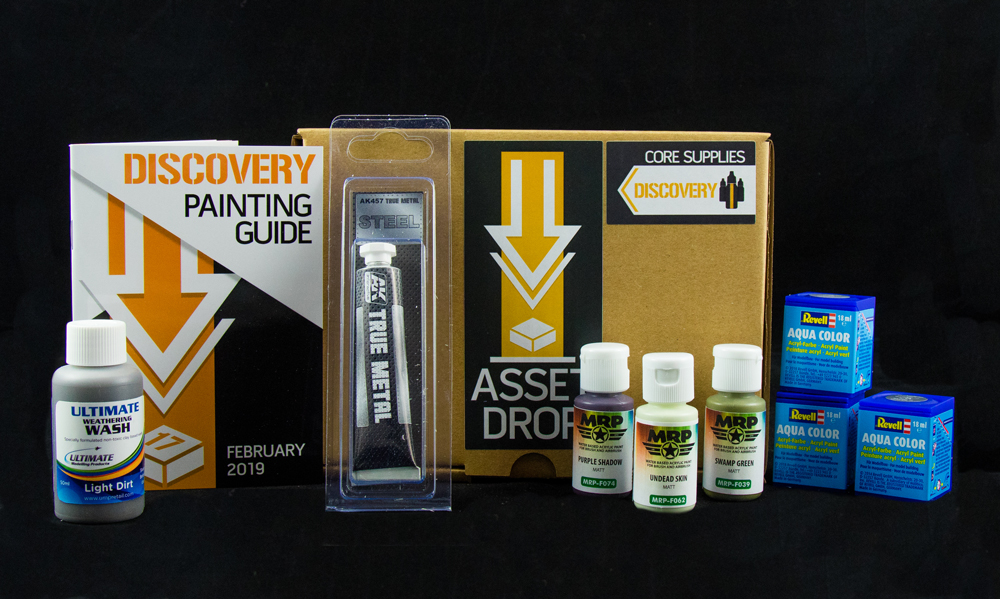 Asset Drop monthly subscription for miniature painters unboxing february