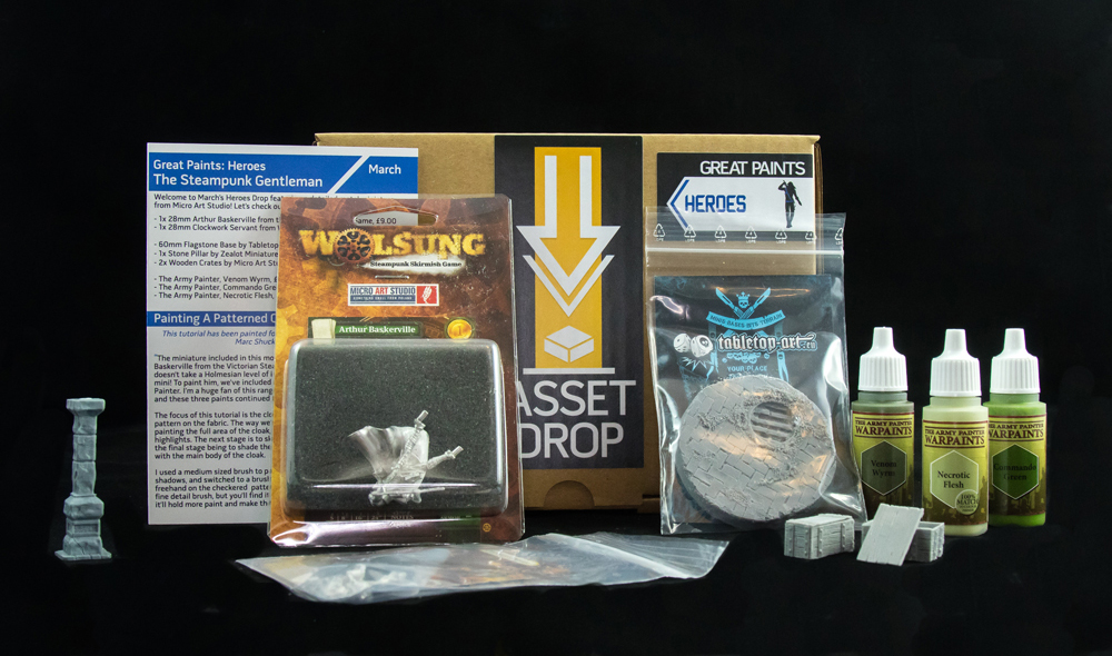 Asset Drop monthly subscription for miniature painters unboxing heroes march