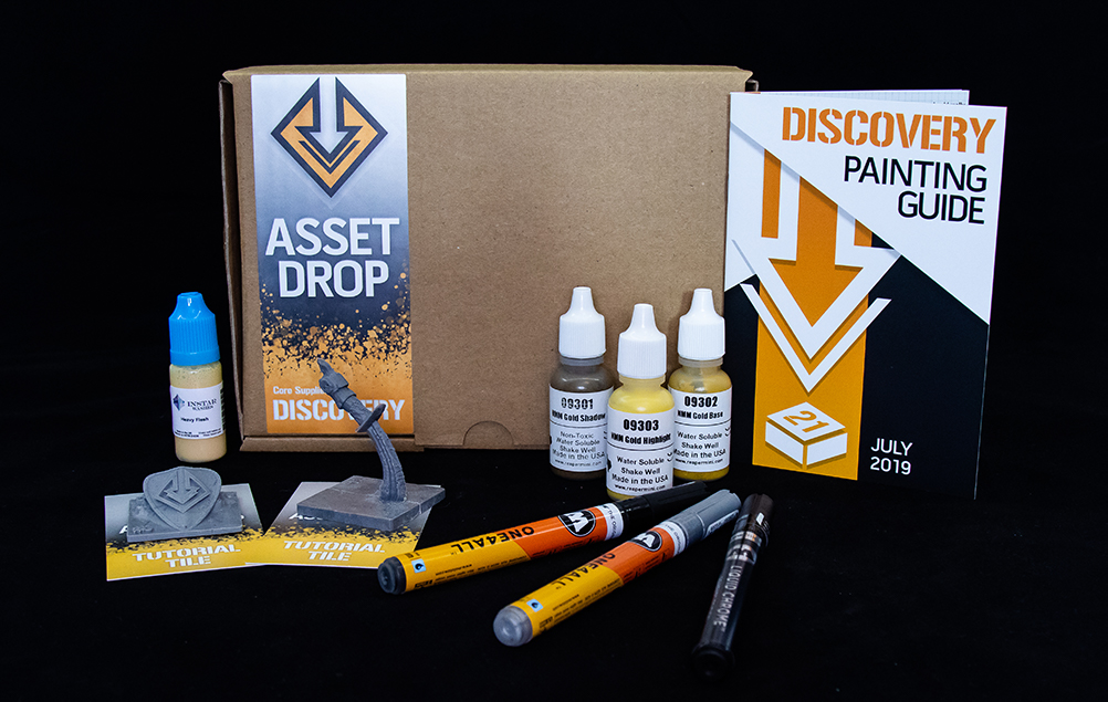 Asset Drop monthly subscription for miniature painters unboxing july