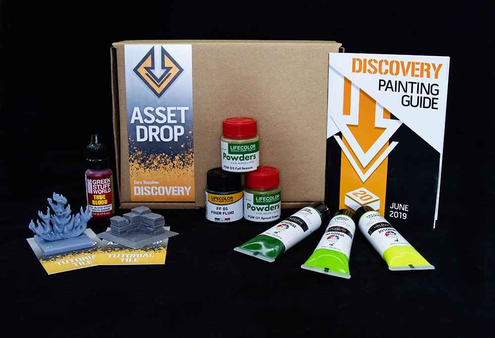 Asset Drop monthly subscription for miniature painters unboxing june