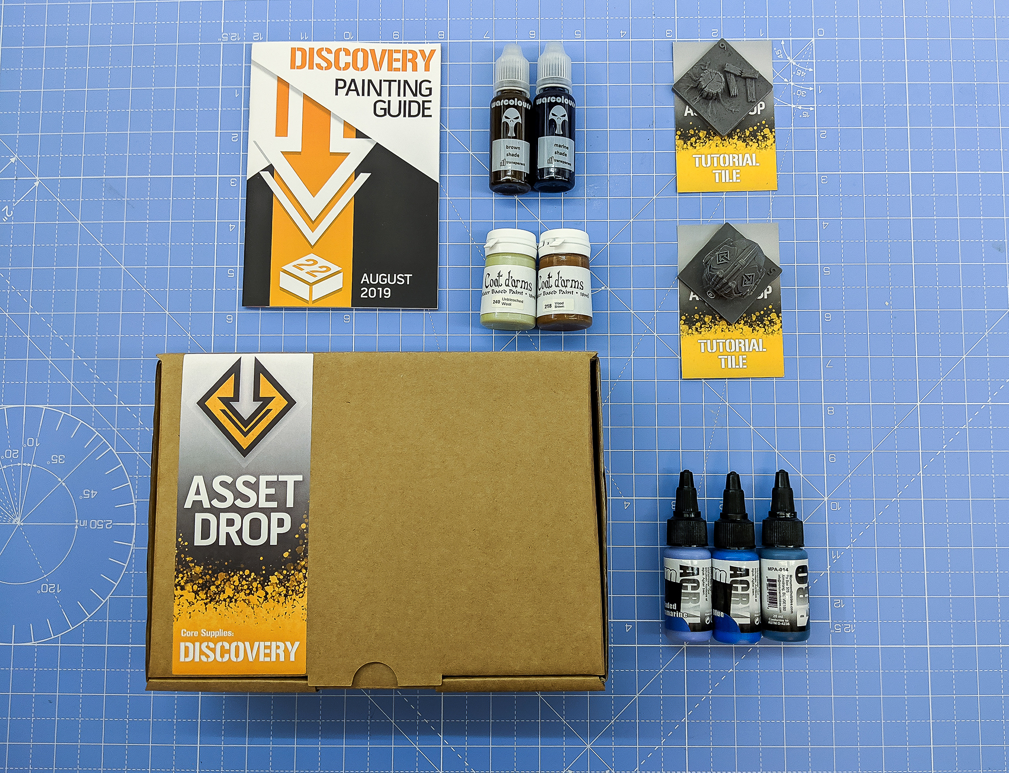 Asset Drop monthly subscription for miniature painters unboxing august