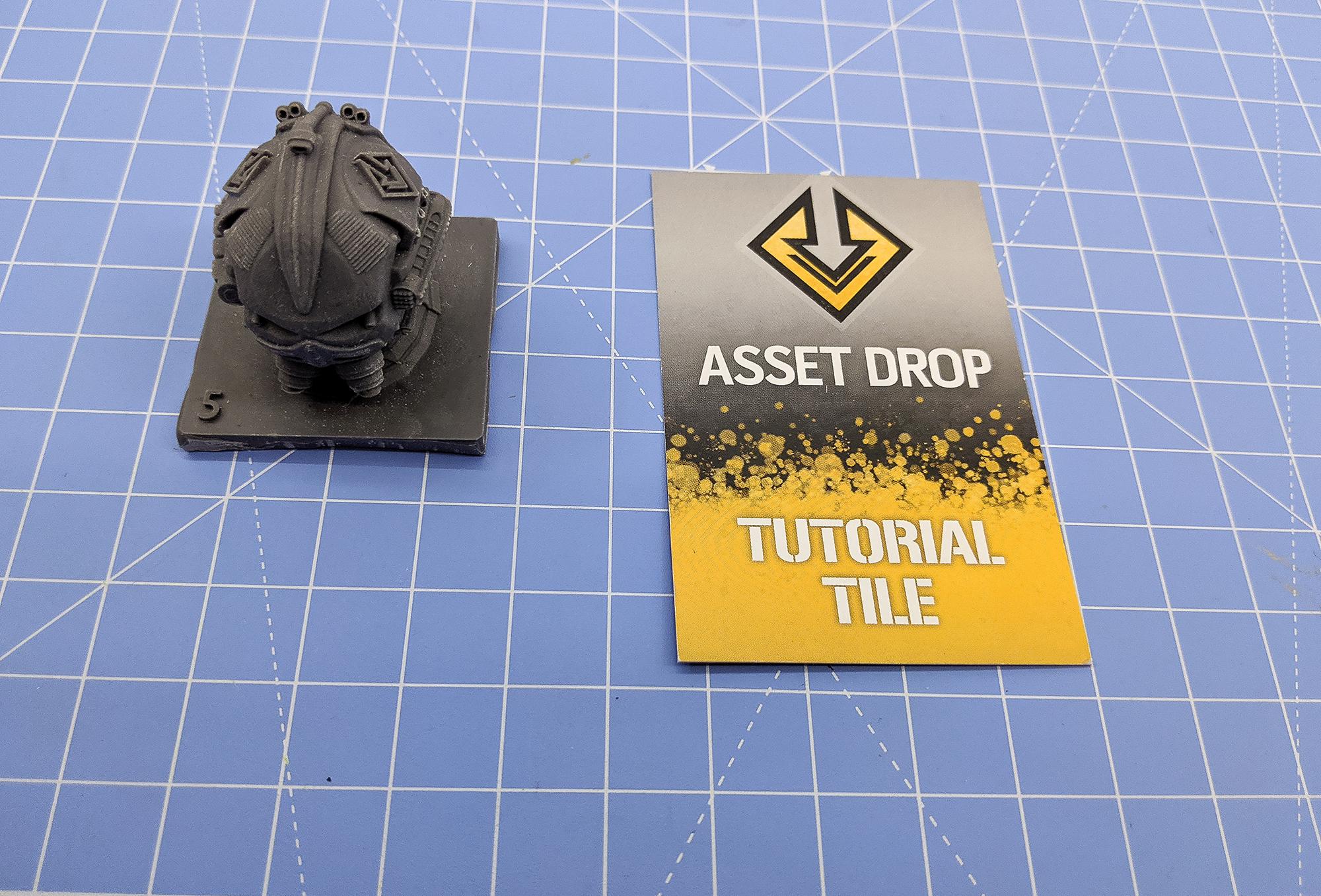 asset drop discovery sci-fi helmet tutorial tile
