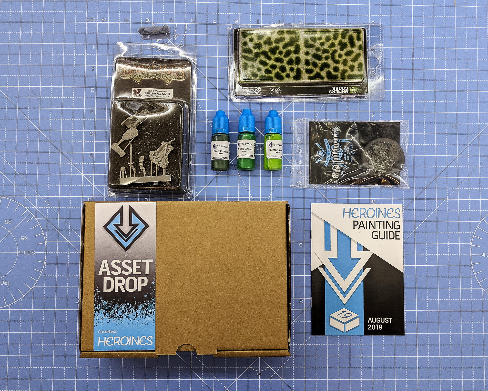 Asset Drop monthly subscription for miniature painters unboxing heroines august