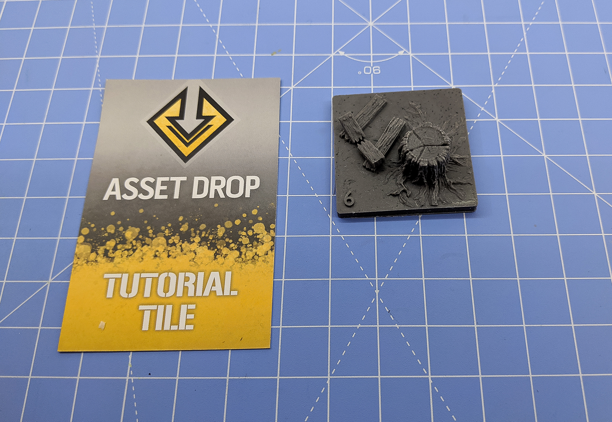 asset drop discovery wooden diorama tutorial tile