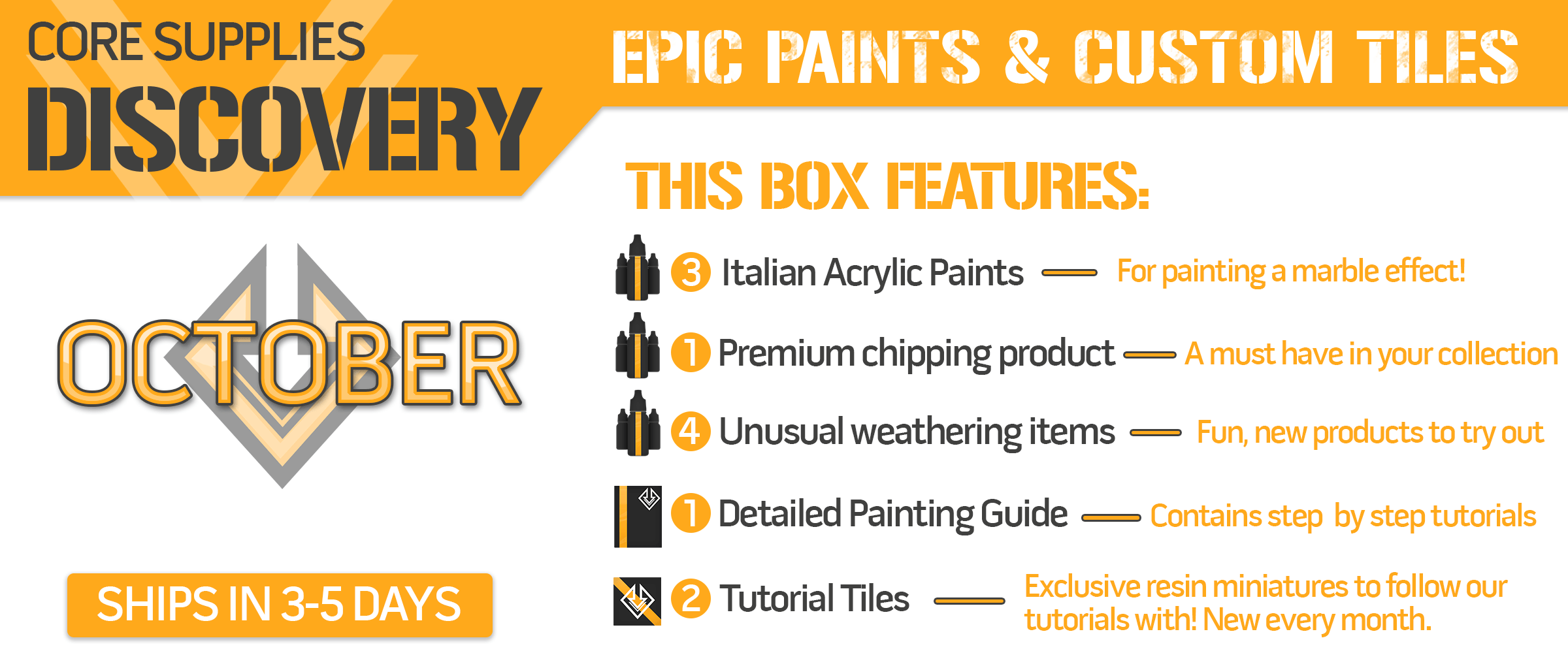 Asset Drop a monthly subscription box for miniature painters
