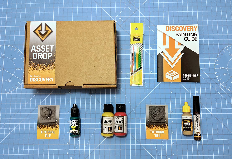 Asset Drop monthly subscription for miniature painters unboxing sept