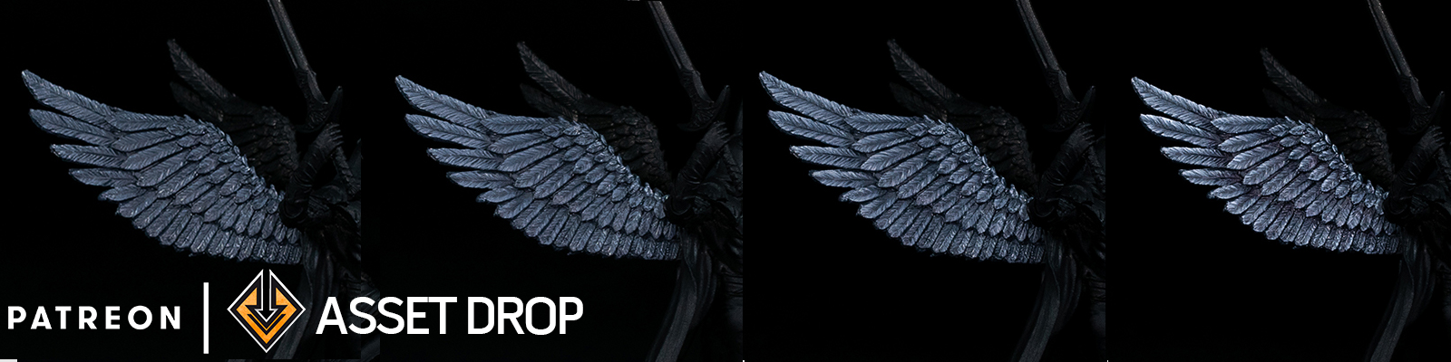 asset drop patreon black feathers tutorial