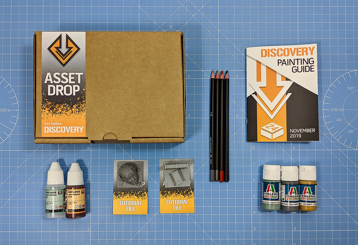 Asset Drop monthly subscription for miniature painters unboxing oct