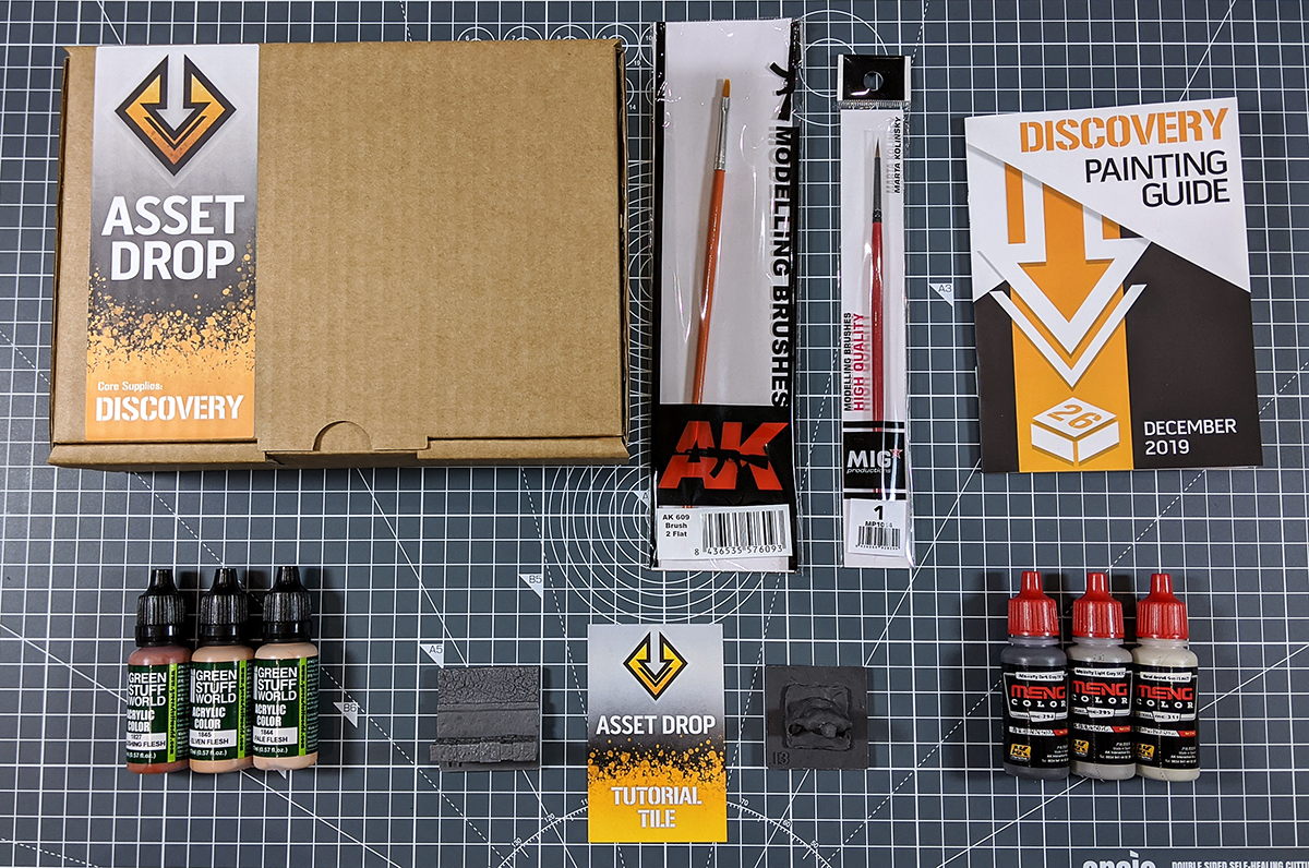 Asset Drop monthly subscription for miniature painters unboxing dec