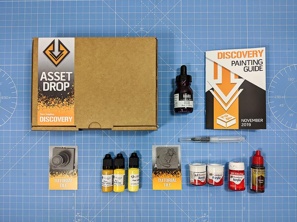Asset Drop monthly subscription for miniature painters unboxing nov