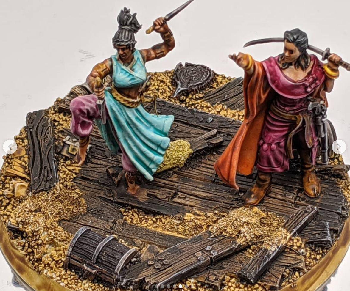 Bushido miniatures pirates asset drop heroines