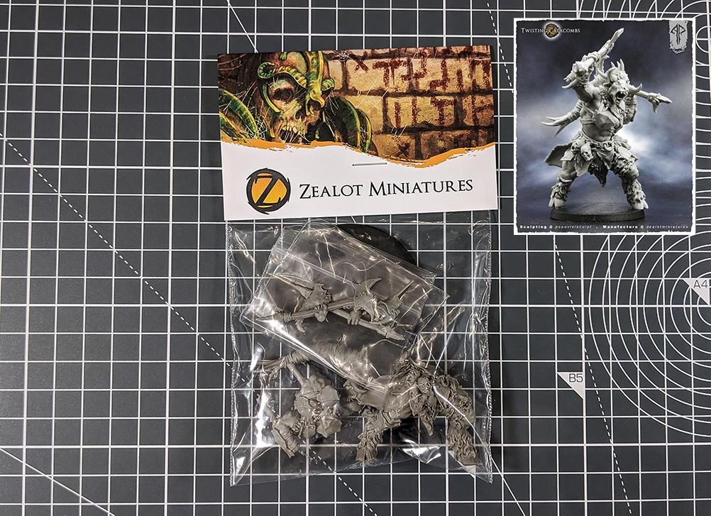 female minotaur zealot miniatures asset drop villains