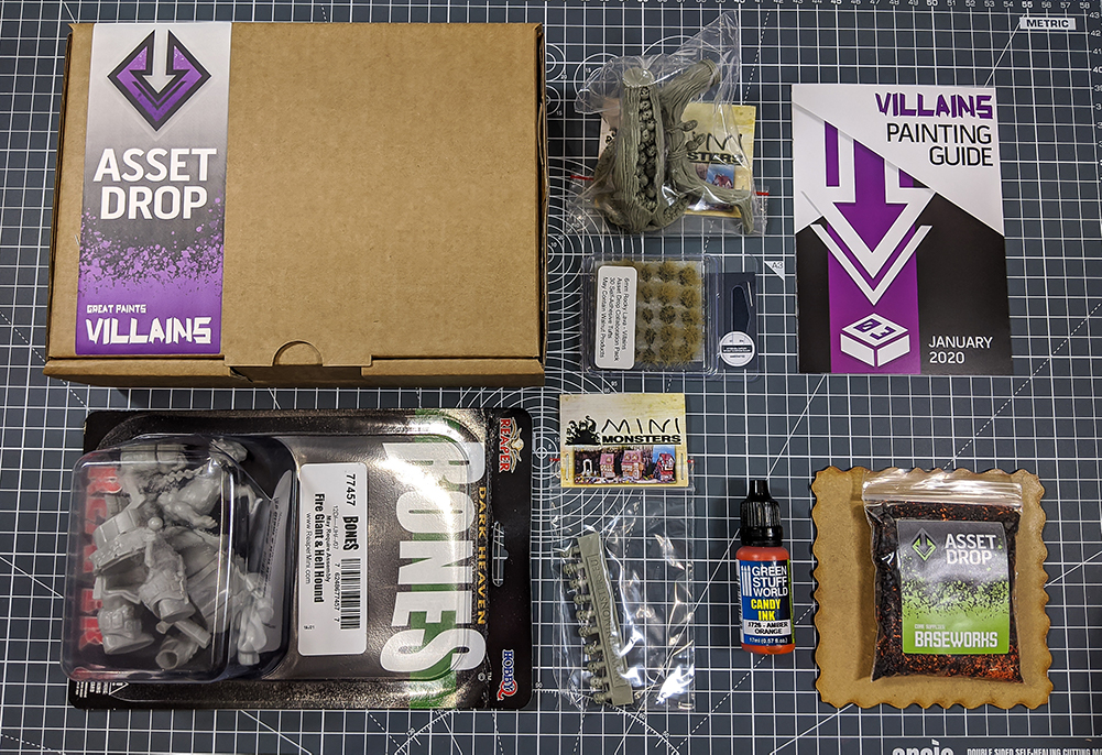 Asset Drop monthly subscription villains january unboxing