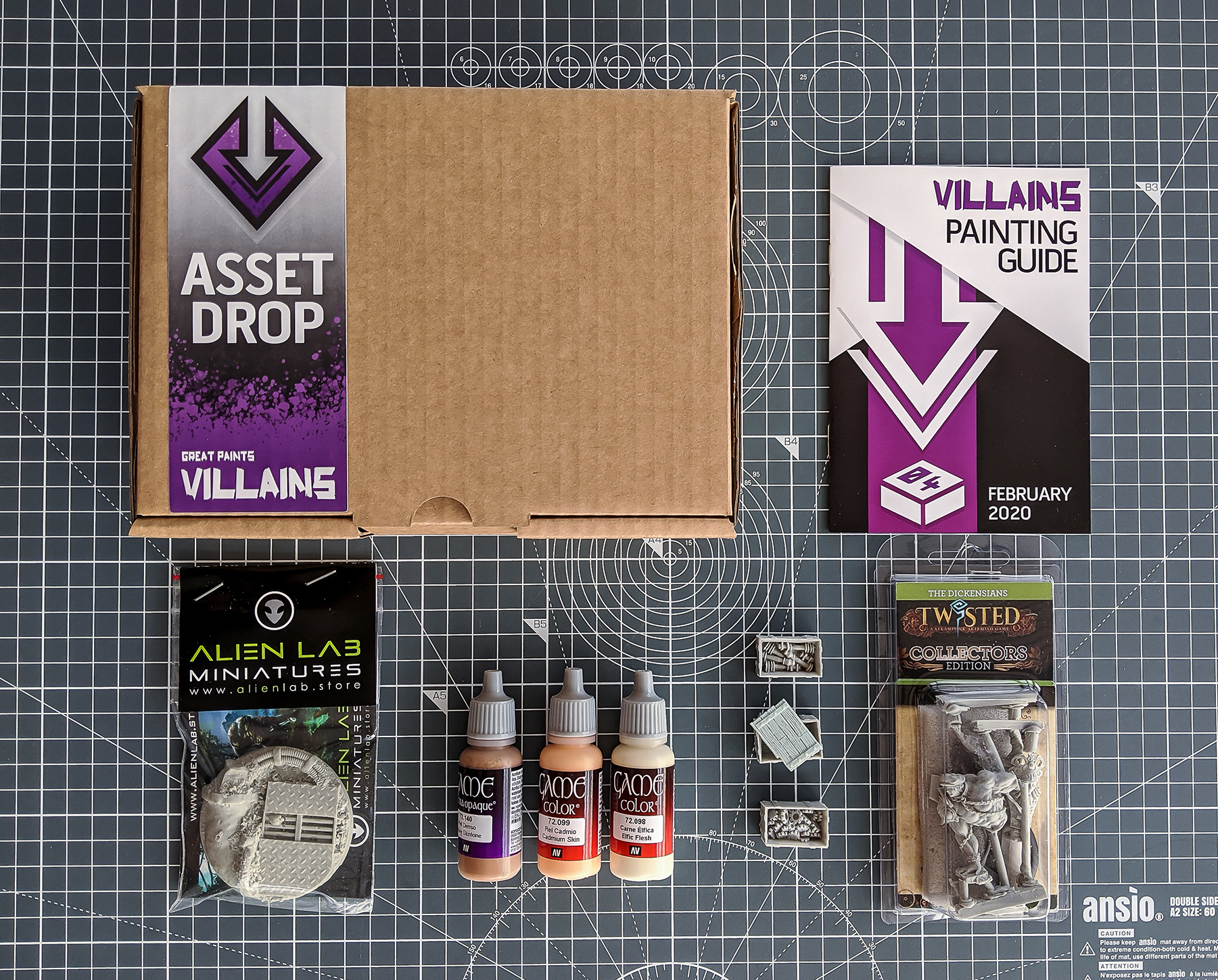 Asset Drop monthly subscription villains february unboxing